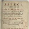 The abbé de Saint-Pierre and British pacifism